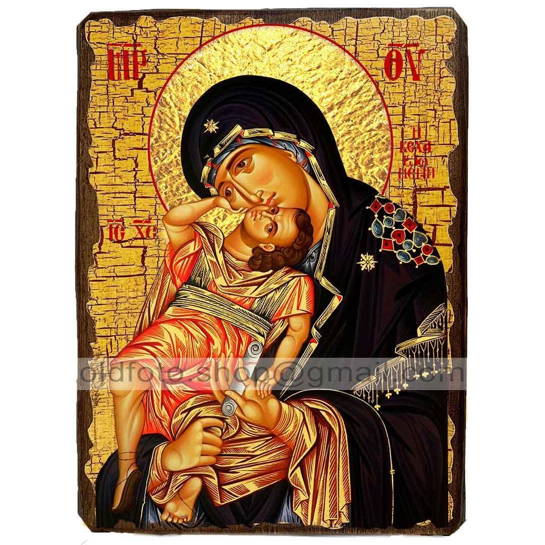 Взыграние Младенца Икона Пресвятой Богородицы (130х170мм)