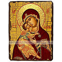 Владимирская Икона Пресвятой Богородицы (130х170мм)