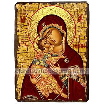 Владимирская Икона Пресвятой Богородицы ,икона на дереве 130х170 мм