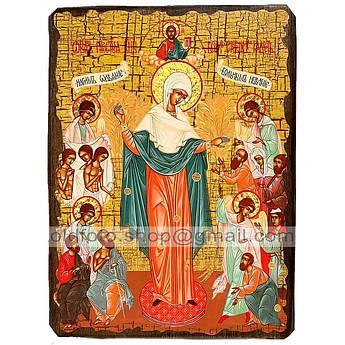 Всех Скорбящих Радость Икона Пресвятой Богородицы ,икона на дереве 130х170 мм