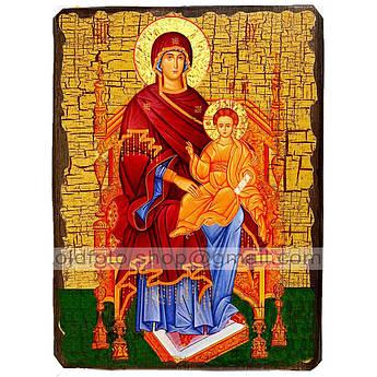 Державная Икона Пресвятой Богородицы ,икона на дереве 130х170 мм