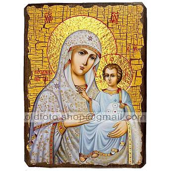 Иерусалимская Икона Пресвятой Богородицы ,икона на дереве 130х170 мм