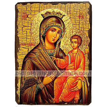 Избавительница Икона Пресвятая Богородица ,икона на дереве 130х170 мм