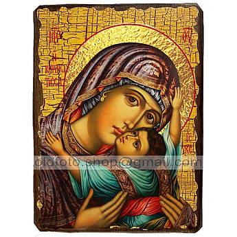 Кардиотисса (Сердечная) Икона Пресвятой Богородицы ,икона на дереве 130х170 мм