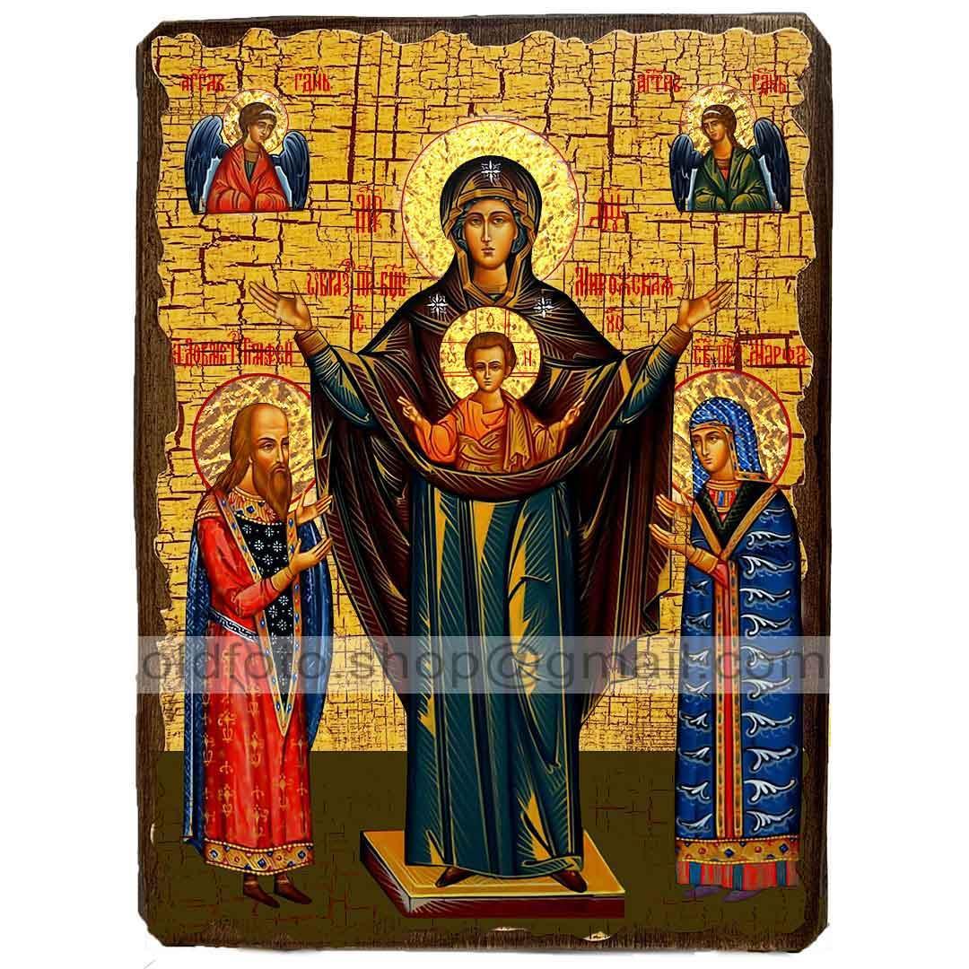 Мирожская Икона Пресвятой Богородицы (130х170мм)