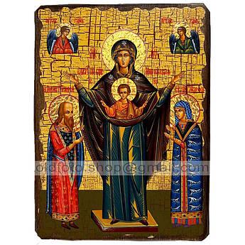 Мирожская Икона Пресвятой Богородицы ,икона на дереве 130х170 мм