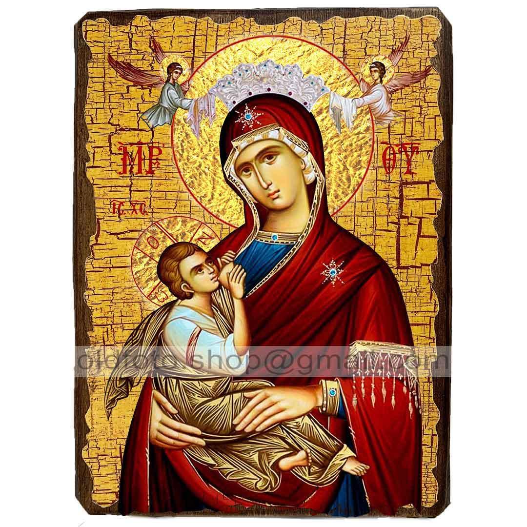 Млекопитательница Икона Пресвятой Богородицы ,икона на дереве 130х170 мм