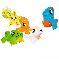 Надувной набор игрушек 6 в 1 Bestway 34030-6 «Зверюшки»