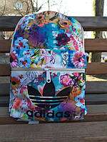 Женский городской рюкзак Adidas Original Flower White