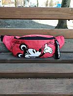 Женская поясная сумка, бананка adidas originals Mickey Red