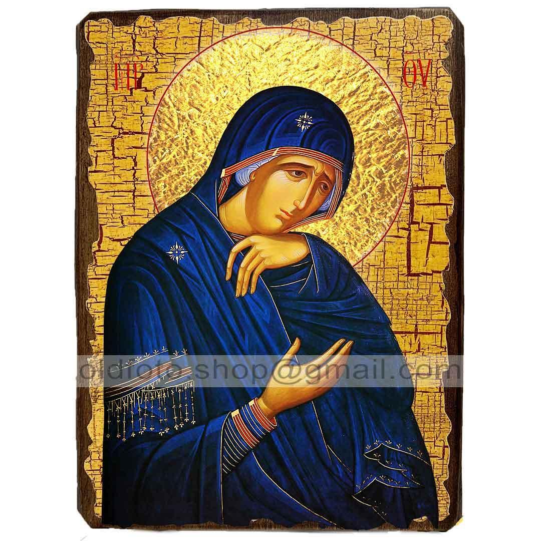 Скорбящая Икона Пресвятой Богородицы ,икона на дереве 130х170 мм