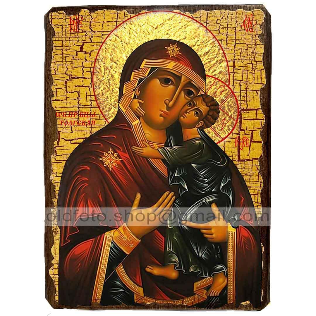 Толгская Икона Пресвятой Богородицы (130х170мм)