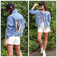 Куртка джинсова стильна НОВИНКА., блакитна, AR-102