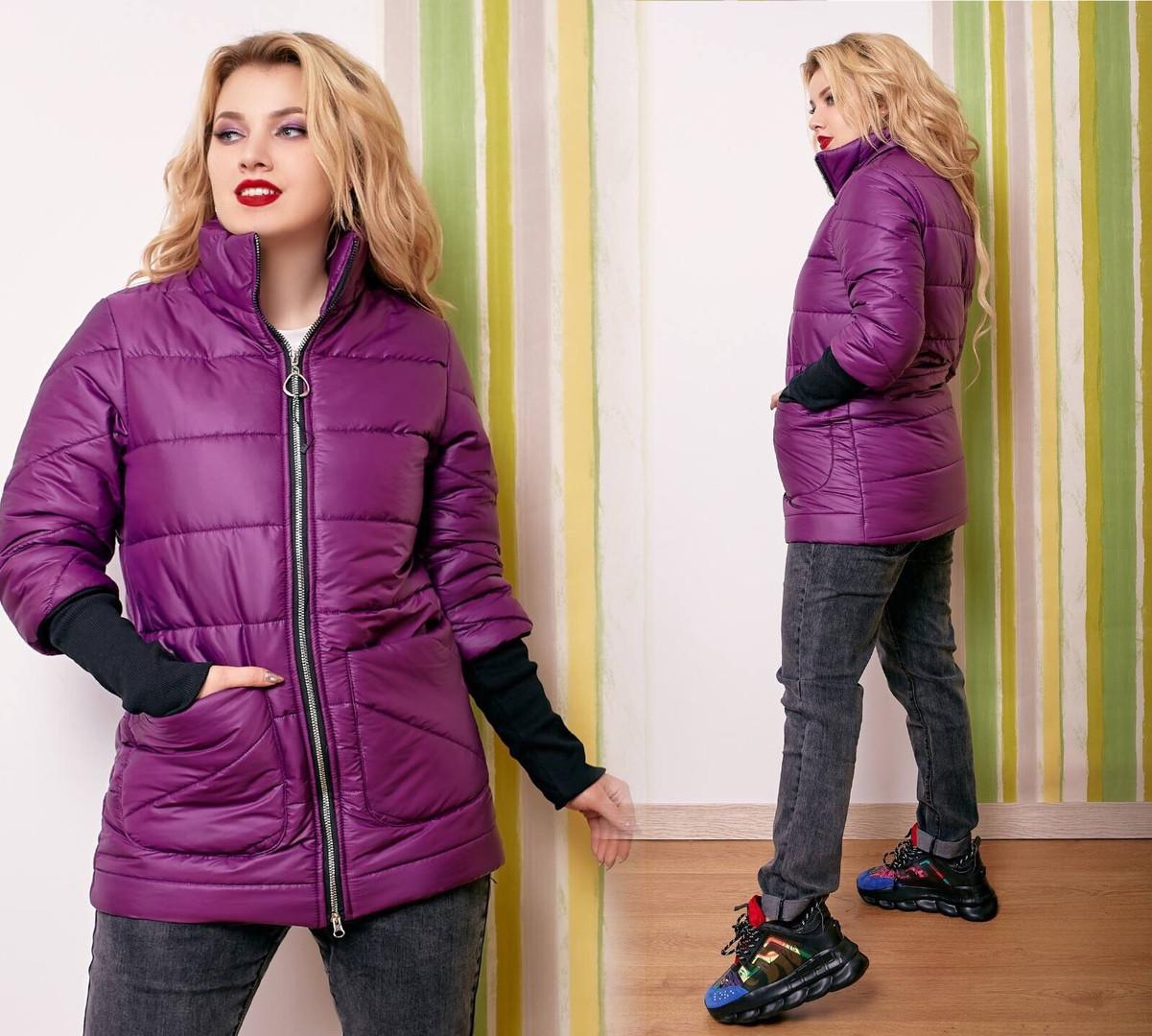 Куртка жіноча демісезонна великі розміри