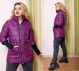 Куртка женская демисезонная  большие размеры