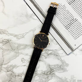 Наручные часы стандарт Patek Philippe Calatrava Black/Gold/Black