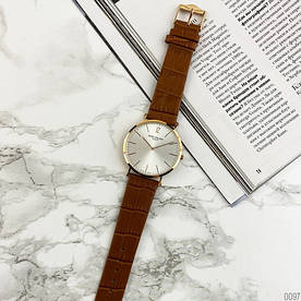 Наручные часы стандарт Patek Philippe Calatrava Brown/Gold/White