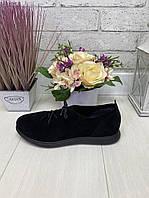 41 р. Туфли женские замшевые на низком ходу, из натуральной замши, натуральная замша, фото 1