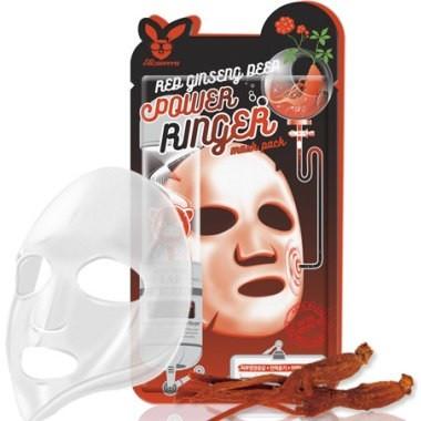 Омолоджуюча тканинна маска для обличчя з екстрактом женьшені Elizavecca Power Ringer 23 мл