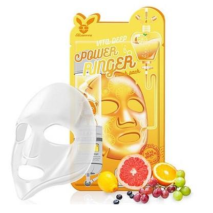 Витаминизированная тканевая маска для повышения упругости лица Elizavecca Power Ringer 23 мл