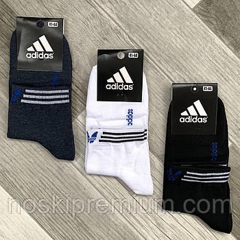 Носки мужские демисезонные х/б спортивные Adidas, Athletic Sports, средние, ассорти, 12589