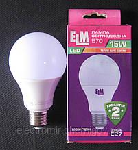 Лампа світлодіодна ELM 15W E27 3000K B70