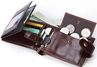 Кожаный мужской портмоне. Модель DM-6, фото 8