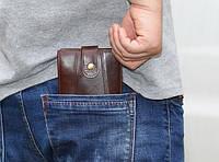 Кожаный мужской портмоне. Модель DM-6, фото 3