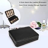 Органайзер для хранения часов  JOCESTYLE -bit watch zipper bag до 8 часов цвет черный, фото 2