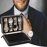 Органайзер для хранения часов  JOCESTYLE -bit watch zipper bag до 8 часов цвет черный, фото 5