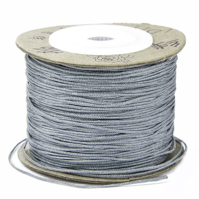 Шнур Нейлоновый, Цвет: Серый, Размер: Диаметр 0.8мм/ Упак.: 20 м