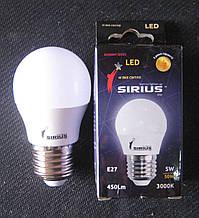 Лампа світлодіодна Sirius 5W E27 3000K (сфера)