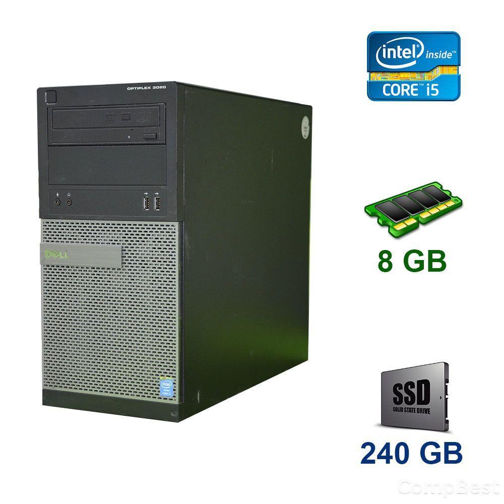 Dell OptiPlex 3020 Tower / Intel Core i5-2400 (4 ядра по 3.1 - 3.4 GHz) / 8 GB DDR3 / 240 GB SSD / nVidia GeForce GTX 1060, 6 GB GDDR5, 192-bit