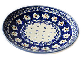 Керамическая тарелка десертная, закусочная  Ø19 Маргаритки, фото 3