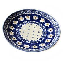 Керамическая тарелка десертная, закусочная  Ø19 Маргаритки, фото 2