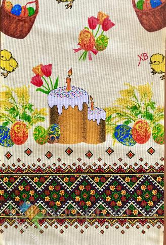 Пасхальне Великодній Рушник Серветка Бавовняний Великодній Рушник Tirotex 2 Кольори 4 Шт В Упаковці Розмір 71 х 42 См