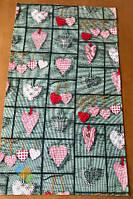 Рушник Кухонне Бавовняне Кухонне Рушник З Малюнком Серце 3 Шт В Упаковці Розмір 71х42 см