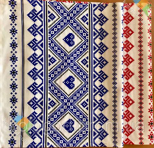 Рушник В Украинском Стиле Хлопковый Рушник С Орнаментом Tirotex Красный И Синий 6 Шт В Упаковке Размер 71 х 42 См