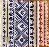 Рушник В Українському Стилі Бавовняний Рушник З Орнаментом Tirotex Червоний І Синій 6 Шт В Упаковці Розмір 71 х 42 См, фото 1
