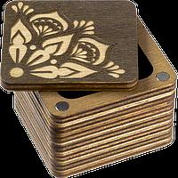 Шкатулка  для бисера крышкой Мандала