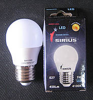 Лампа светодиодная Sirius 5W E27 4100K G45 (сфера), фото 1