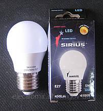 Лампа світлодіодна Sirius 5W 4100K E27 G45 (сфера)