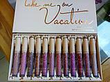 Мега-набор стойких матовых жидких помад 12 штук KYLIE VACATION LIPSTICK, фото 3