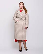 Женское пальто демисезонное 50 52 54р капучино