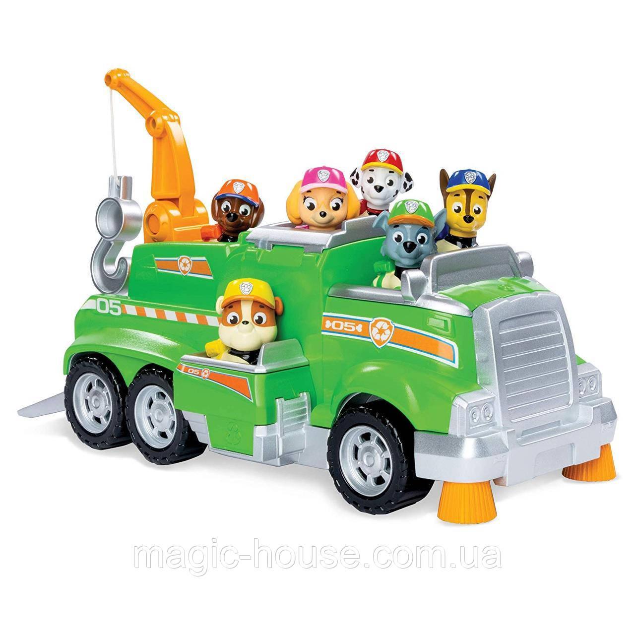 ОРИГІНАЛ! Paw Patrol Рятувальна Машина Роккі і 6 фігурок Rocky Total Rescue Team Recycling Truck