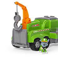 ОРИГІНАЛ! Paw Patrol Рятувальна Машина Роккі і 6 фігурок Rocky Total Rescue Team Recycling Truck, фото 2