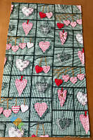 Полотенце Кухонное Хлопковое Кухонное Полотенце С Рисунком Сердце 3 Шт В Упаковке Размер 71х42 см