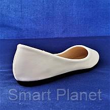 Балетки Белые Мокасины Женские Туфли (размеры: 37), фото 3