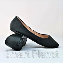 Балетки Черные Мокасины Женские Туфли (размеры: 35,36), фото 2