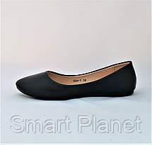 Балетки Черные Мокасины Женские Туфли (размеры: 35,36), фото 3